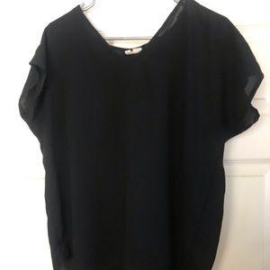 Black sheer blouse by Japna.